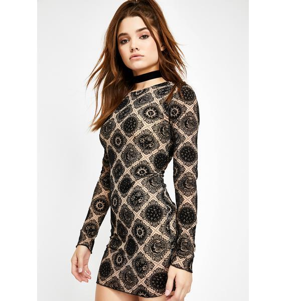 Motel Wyanna Celestial Print Dress