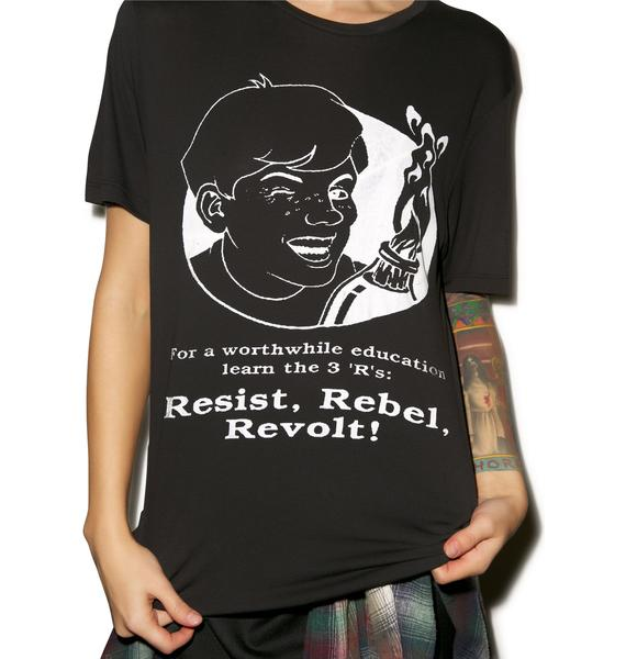 Obesity and Speed Resist Rebel Revolt Tee