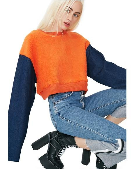 Double Crosser Cropped Sweatshirt