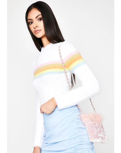 Fairy Floss Mock Neck Sweater