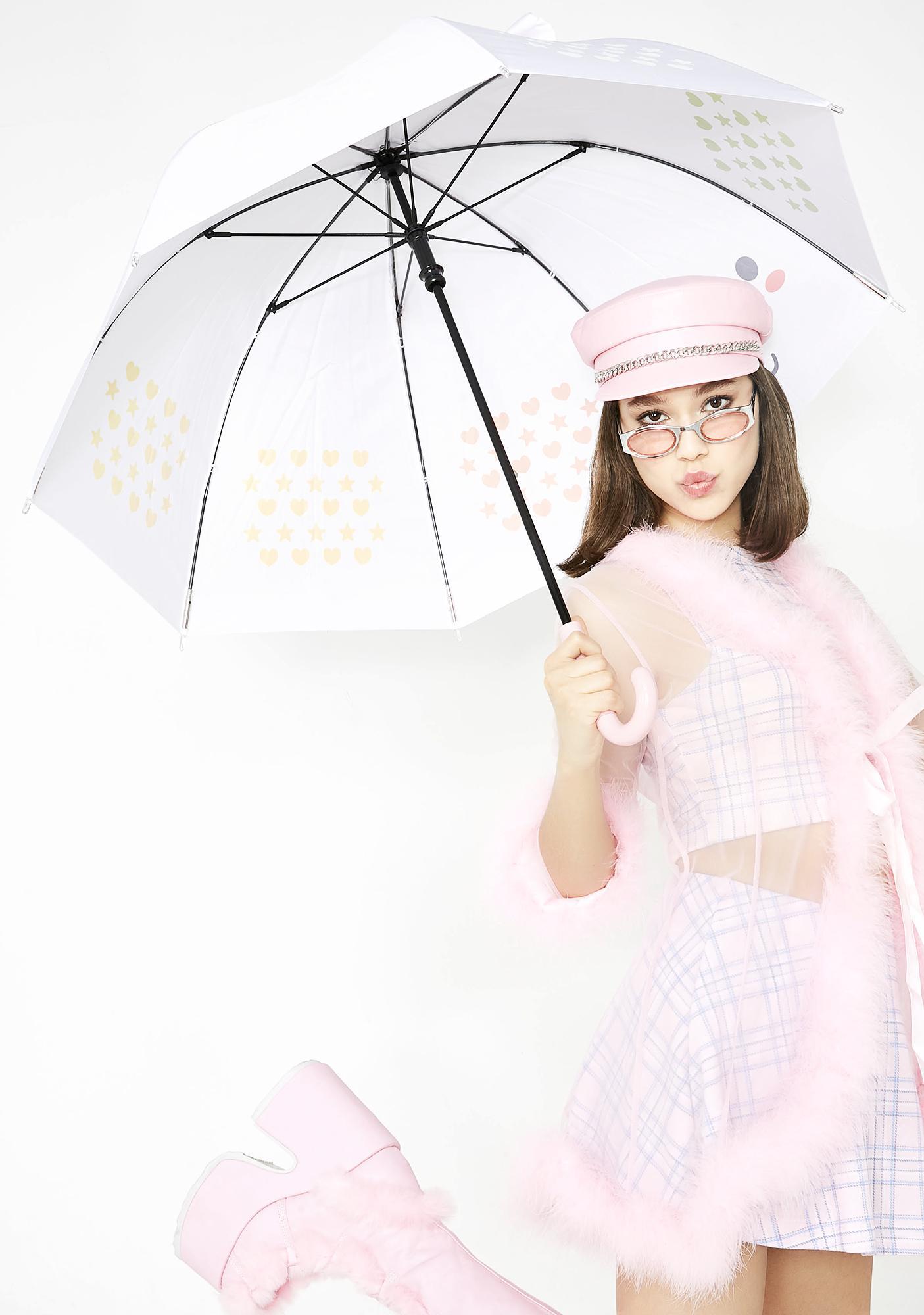 5222cbd33 Smoko Elodie Unicorn Color Changing LED Umbrella   Dolls Kill