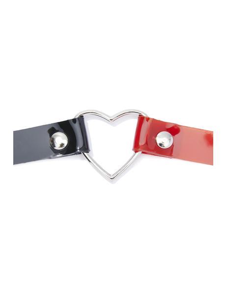 Split Love Heart Choker