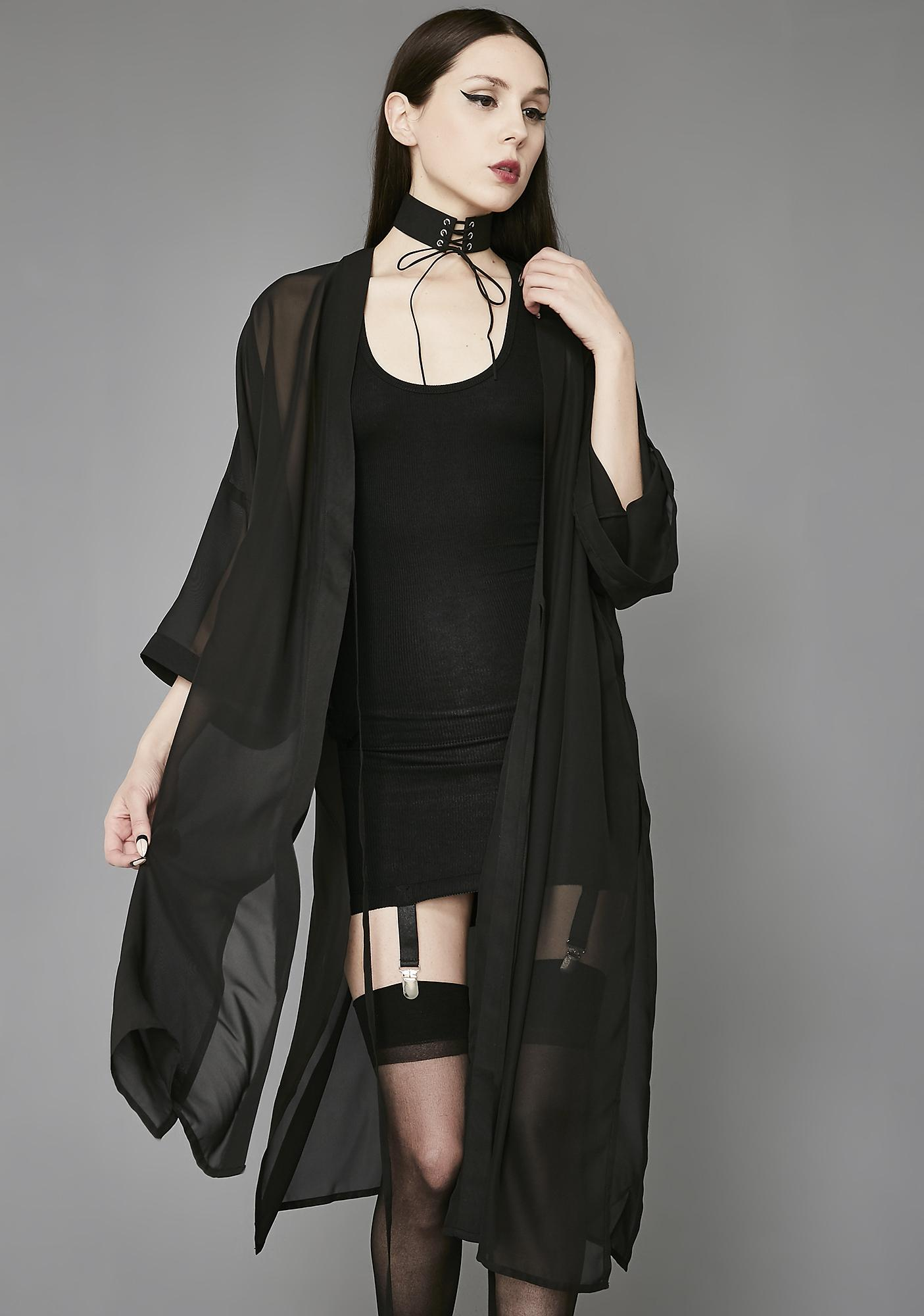 Widow No Time To Cry Chiffon Kimono