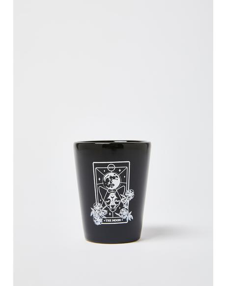 Moon Cat Tarot Card Shot Glass