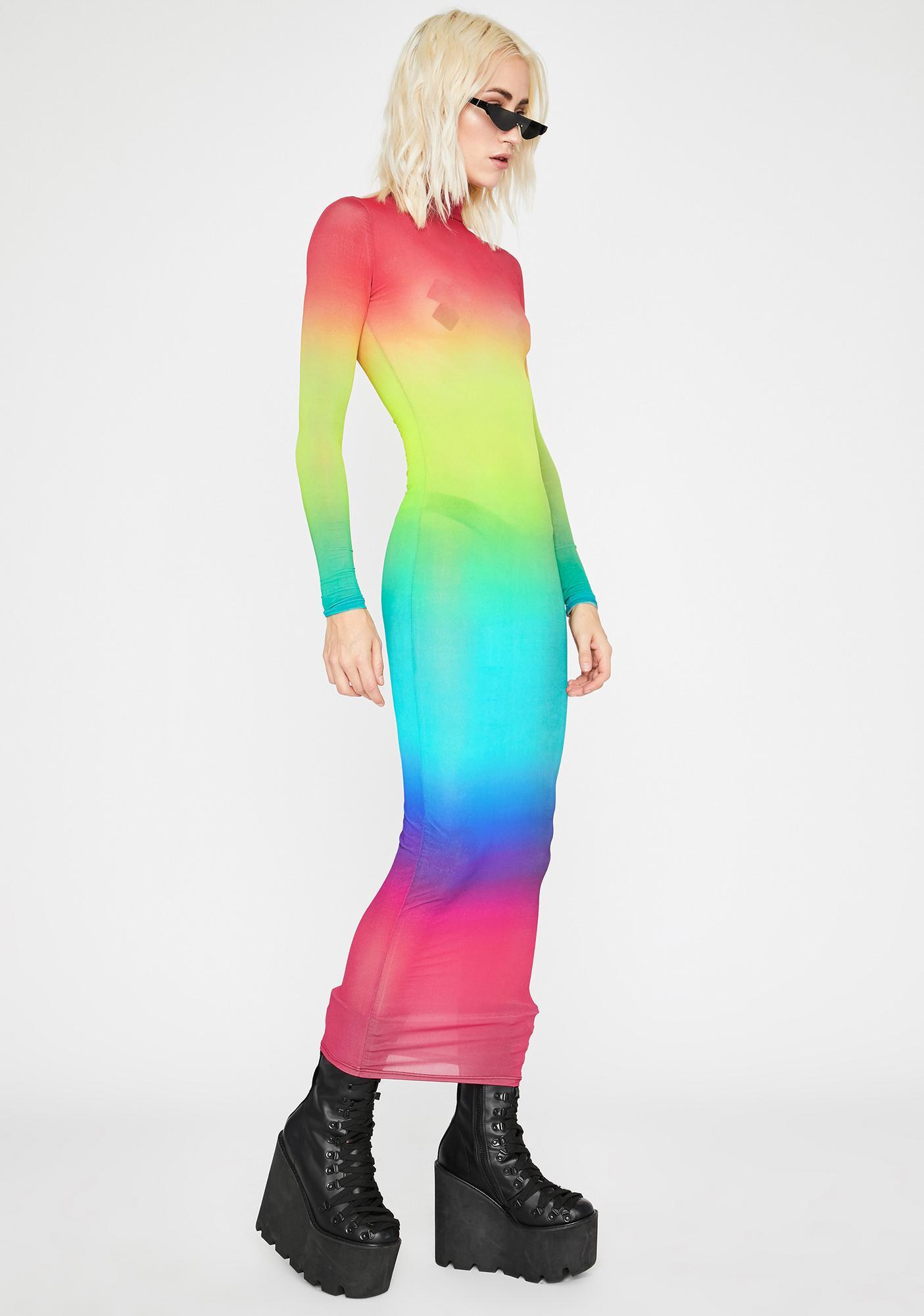 Rainbow Connection Maxi Dress