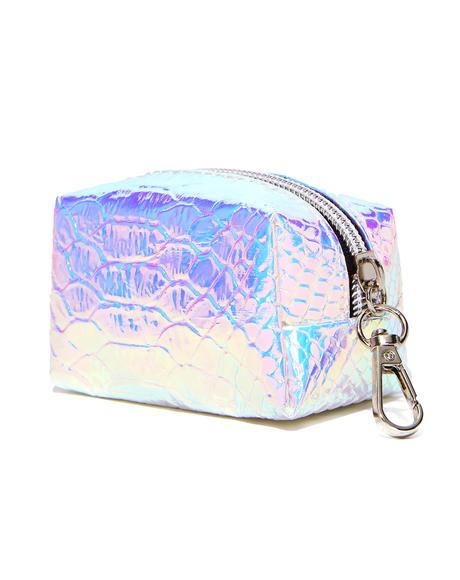 Iridescent Slithering Pouch Keychain