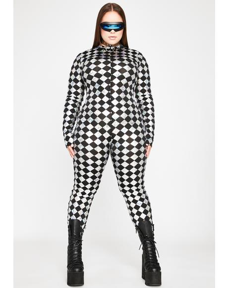 Ur Chrome Sonic Supernova Grl Checkered Jumpsuit