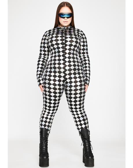Ur Chrome Sonic Supernova Grl Checkered Jumpsuit