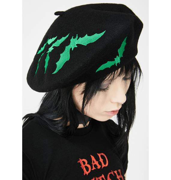 Kreepsville 666 Green Bat Repeat Beret