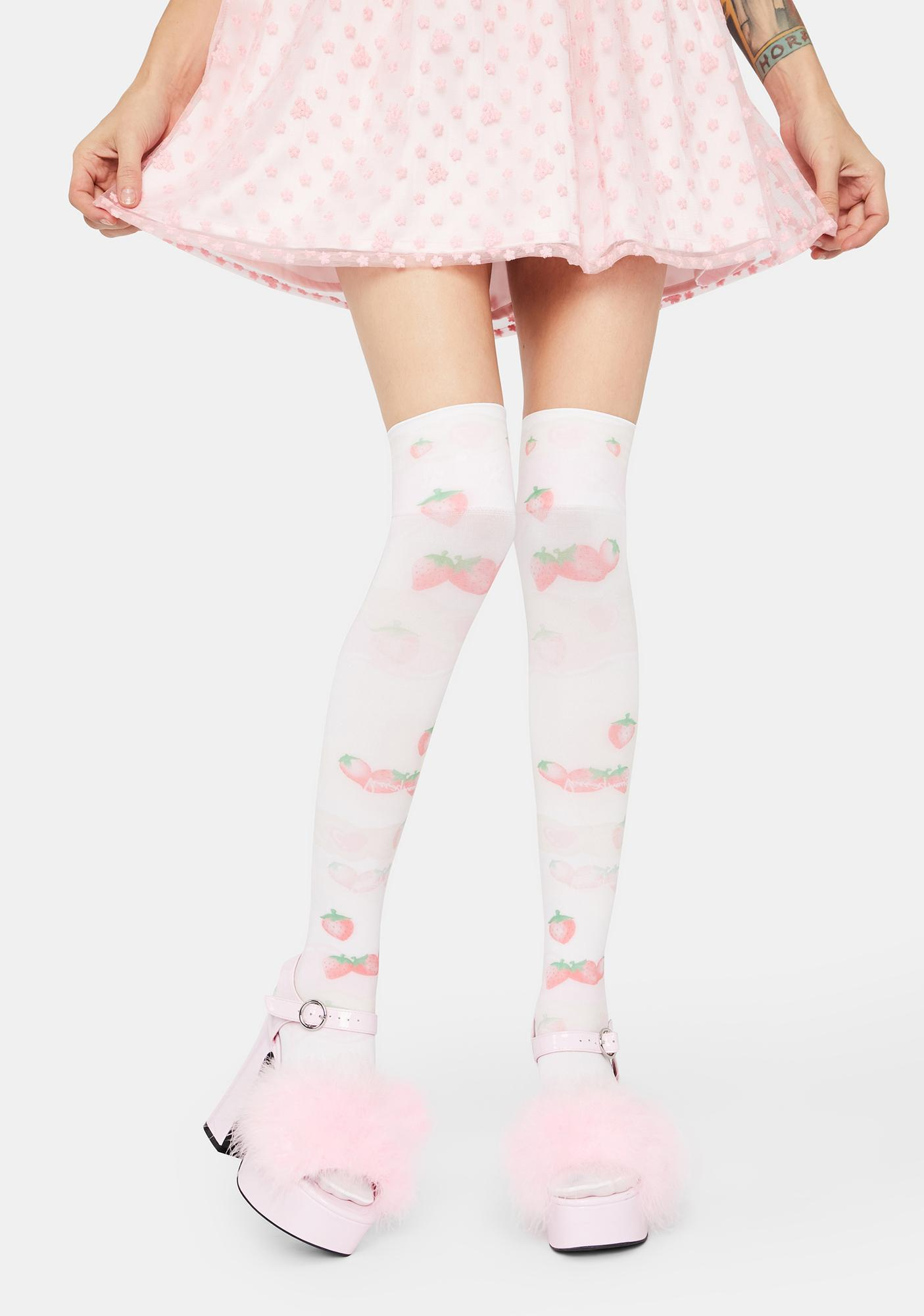 Sweet To Eat Thigh High Tights