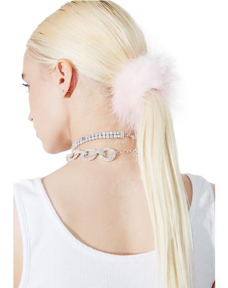 Pink Always Be My Baby Scrunchie