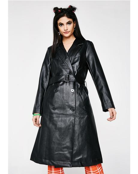 Bye Haterz Trench Coat