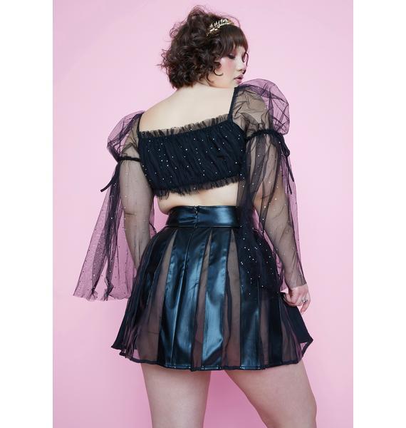 Sugar Thrillz Always Chasing Moonlight Pleated Mini Skirt