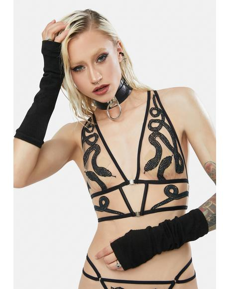 Medusa Embroidered Bralette