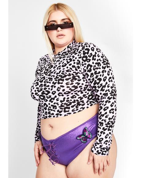 Orchid True Max Catty Leopard Crop Top