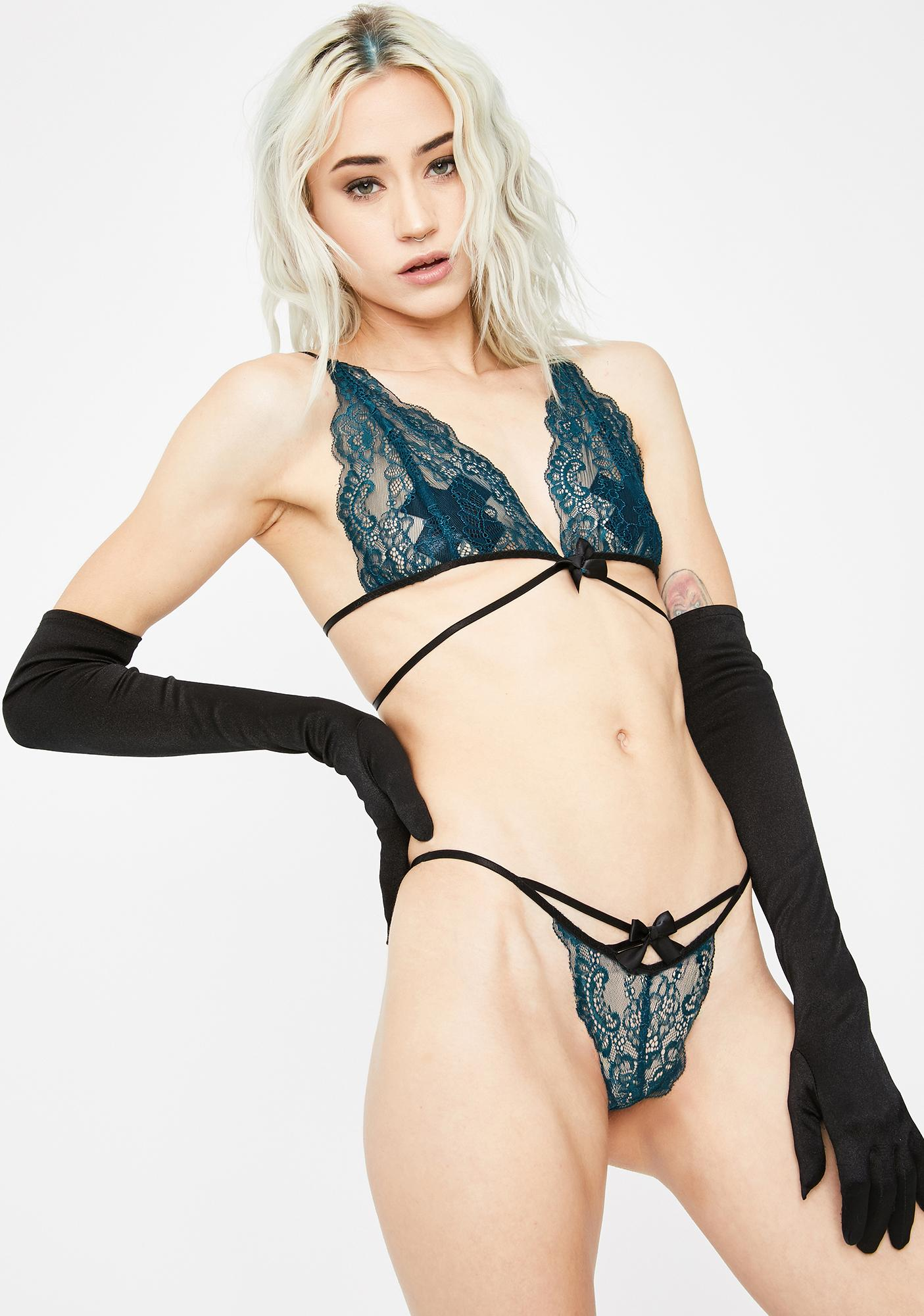 Lustful Envy Lace Bralette Set