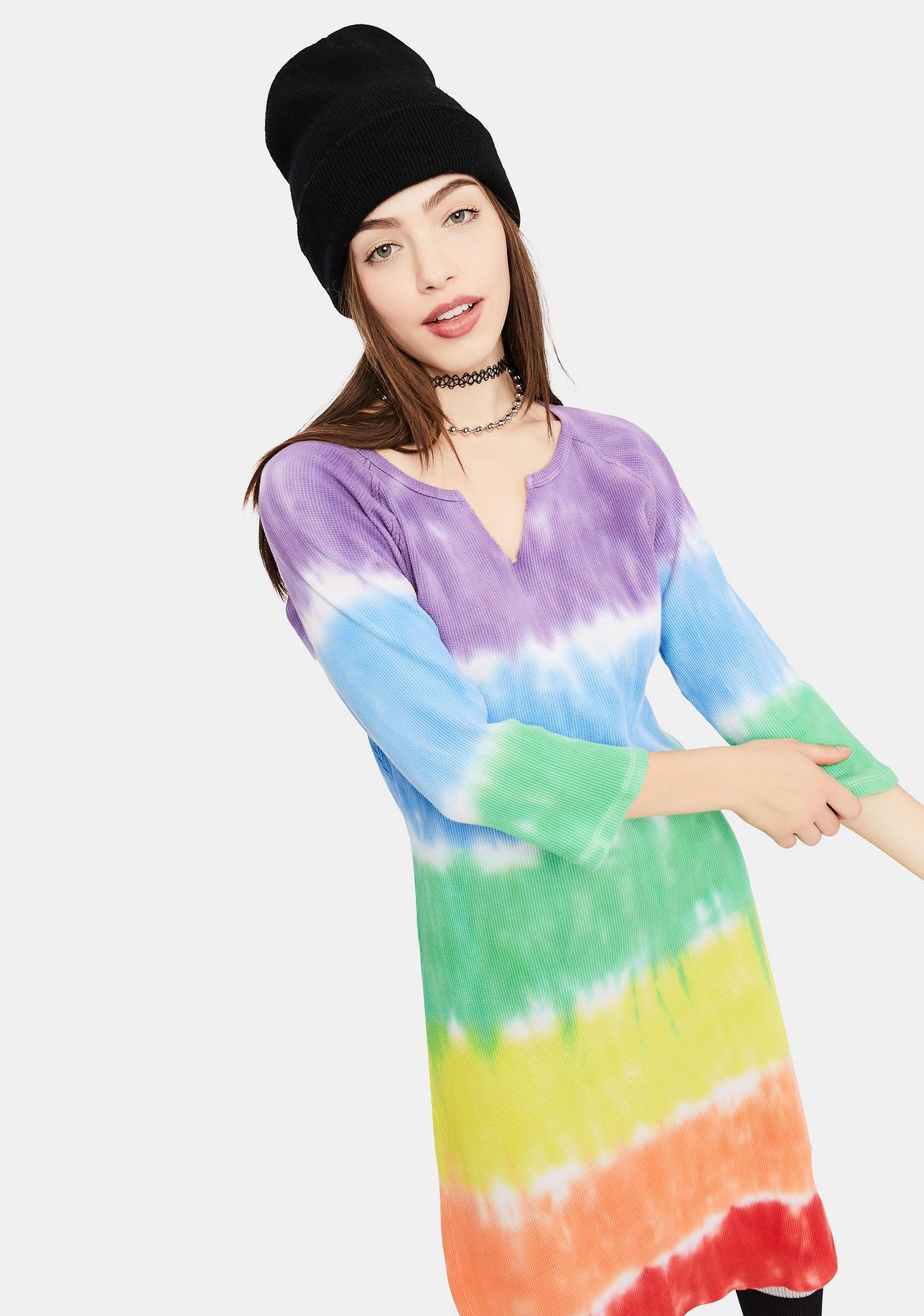 dELiA*s by Dolls Kill Jolly Happy Soul Tie Dye Midi Dress