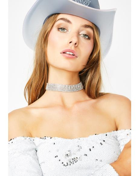 Iced Out Queen Rhinestone Choker