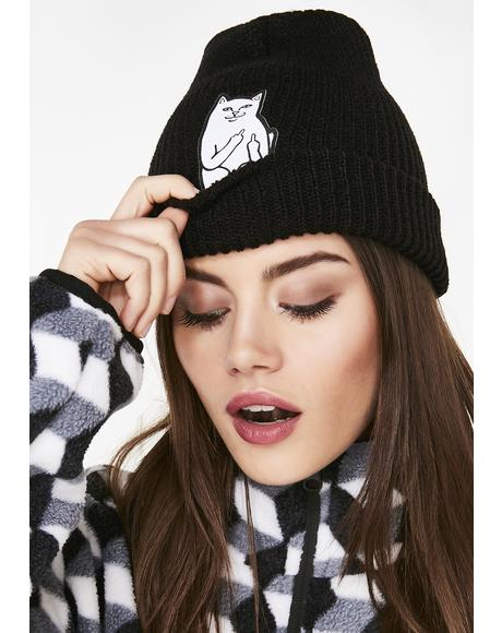 Dark Lord Nermal Rib Beanie