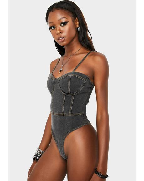 Won't Forget Denim Bodysuit
