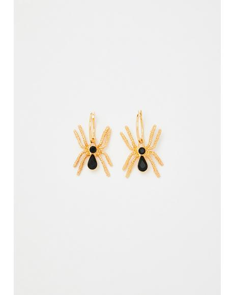 Little Ms Spider Drop Earrings