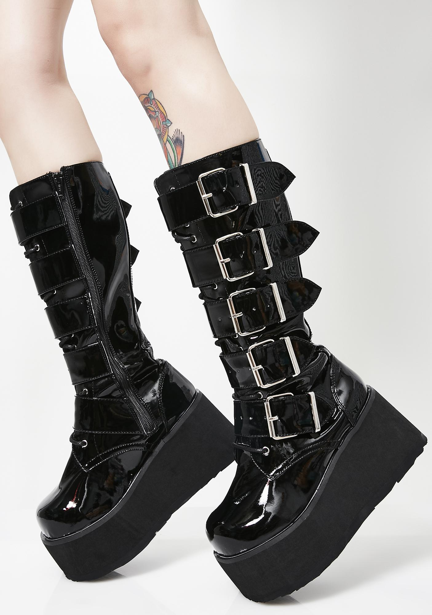 775b8d35caf6 Demonia Trashville Knee High Boots