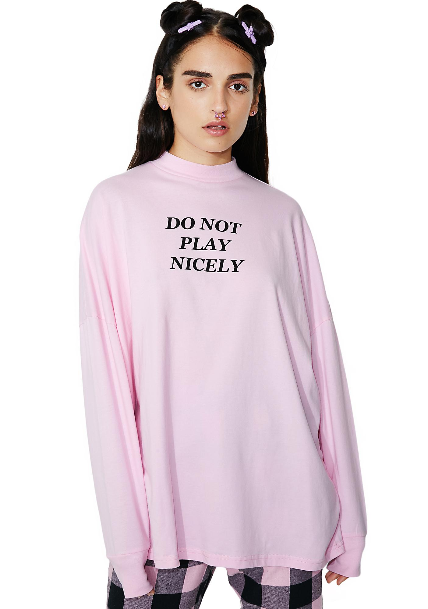 Lazy Oaf Not Playing Long Sleeve Tee