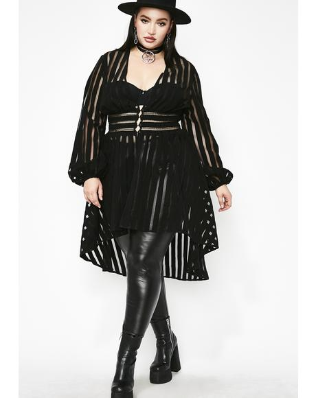 Sassy Supreme Queen Sheer Jacket