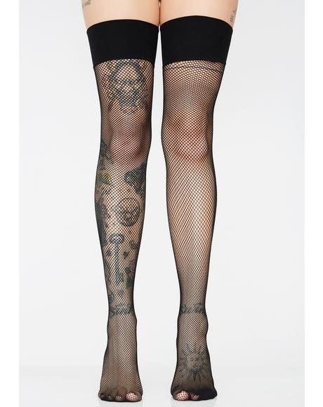 Worst Enemy Fishnet Stockings