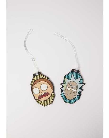Rick And Morty Luggage Tag Set