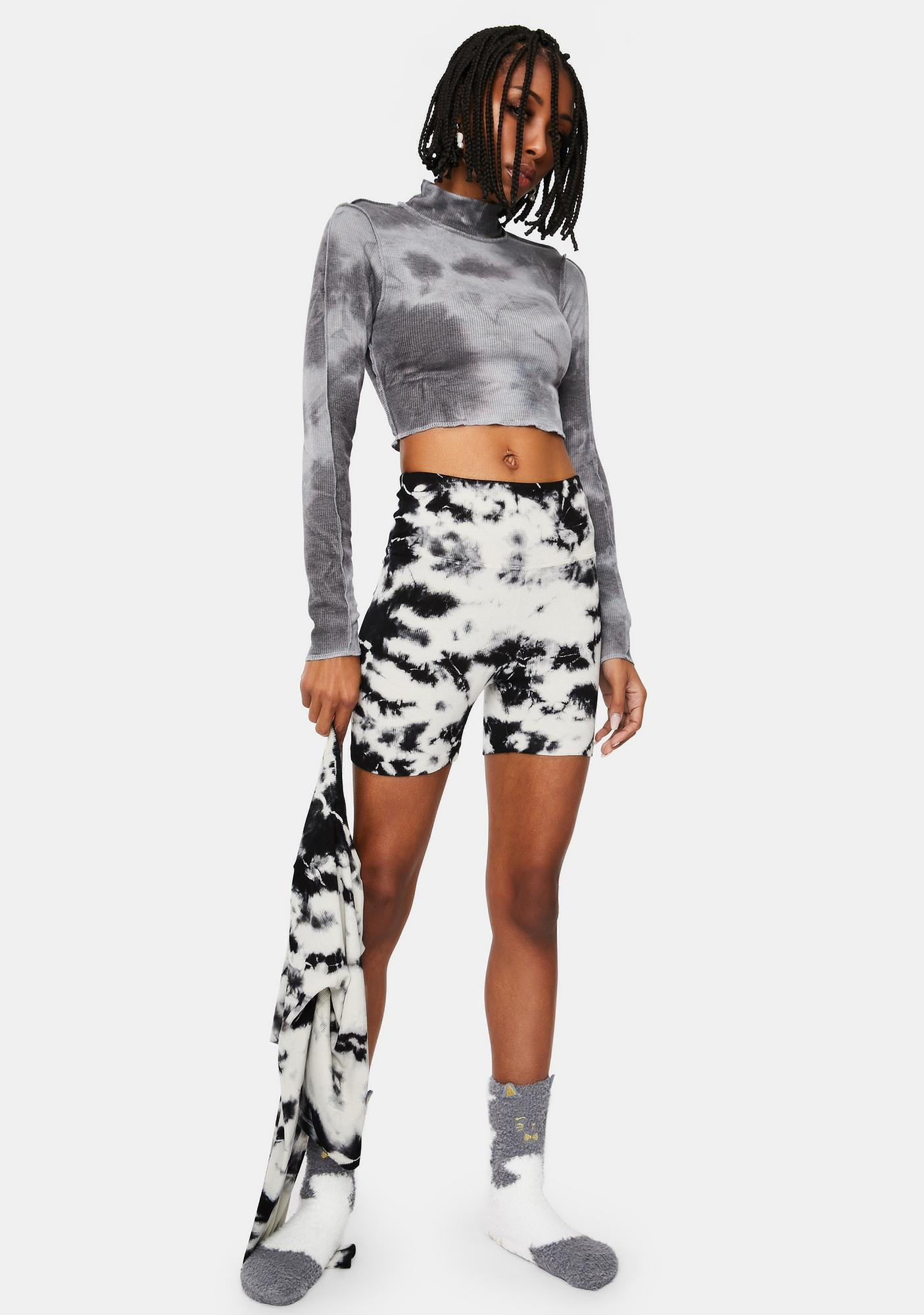 Grunge Anthem Tie Dye Crop Top