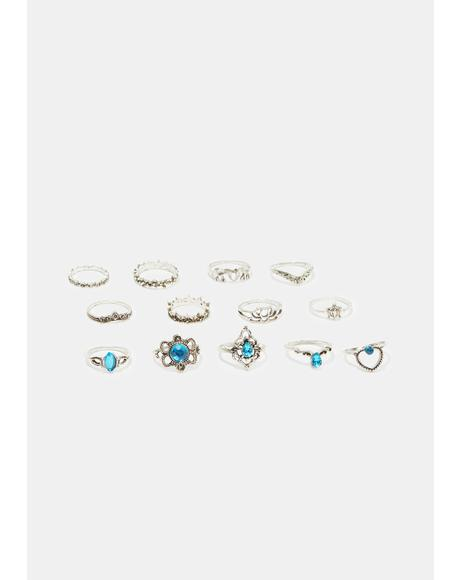Dazzling Darling Ring Set