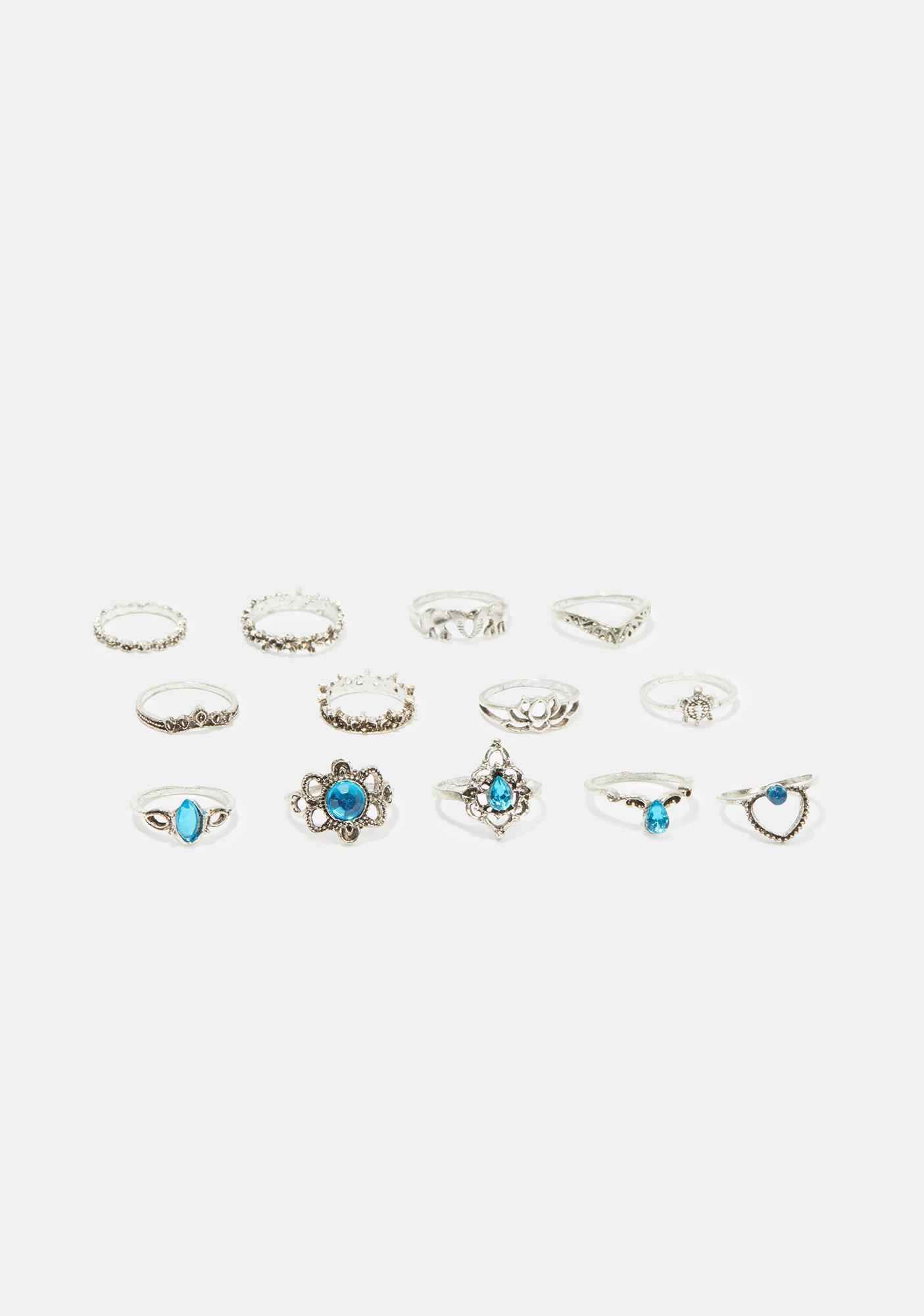 Dazzling Darling Ring Set