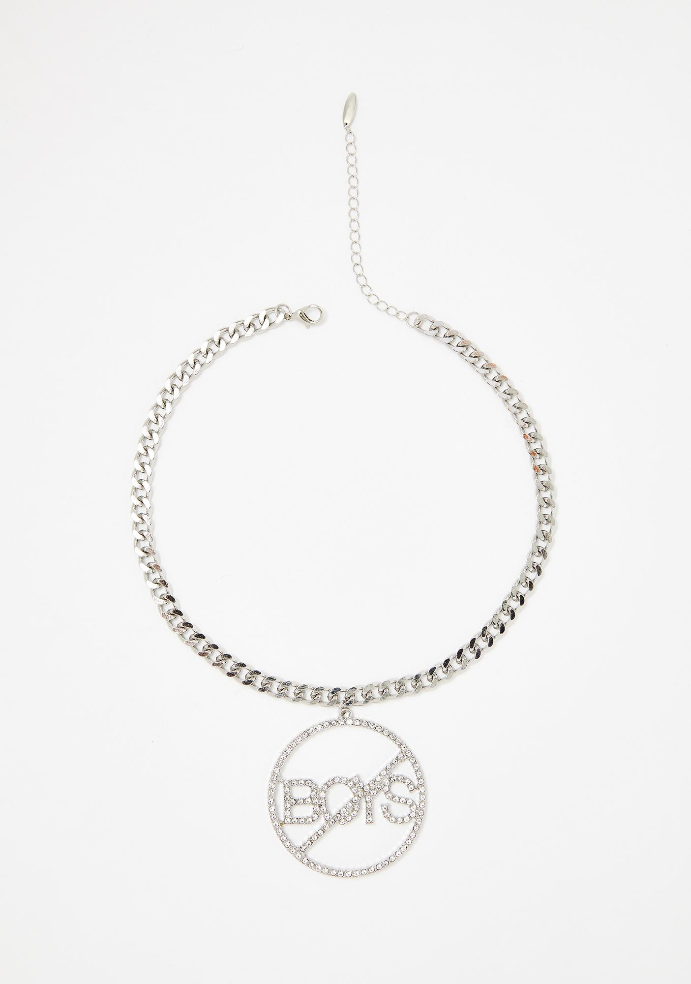 No Boys Chain Necklace