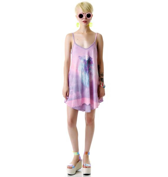 Wildfox Couture Constellation Kitty Slip Dress