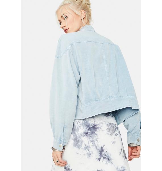 Cloudy Daze Tencel Zip-Up Jacket