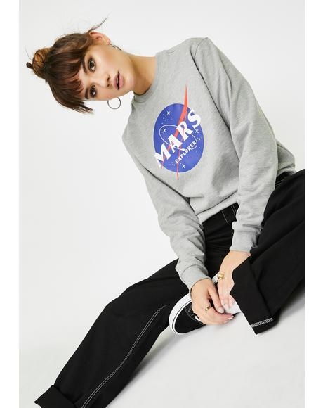 Mars Explorer Graphic Crewneck Sweater