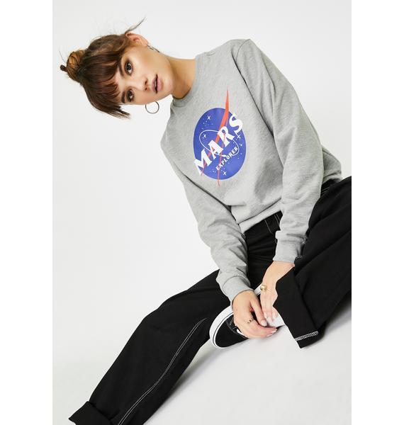 Minga Mars Explorer Graphic Crewneck Sweater