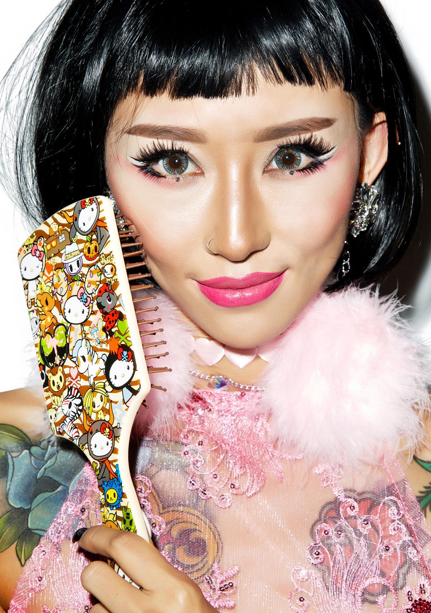Sanrio Tokidoki X Hello Kitty Summer Safari Hair Brush