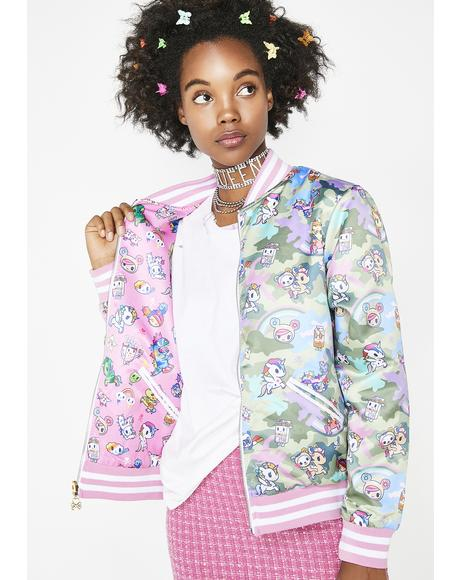 Kawaii Camo Reversible Jacket