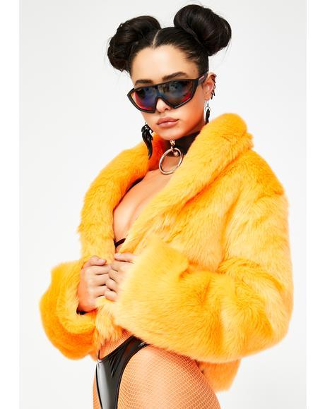 Juiced Plush Funk Fur Coat