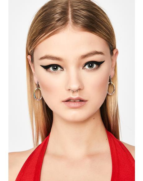 Keep Talking Circle Earrings
