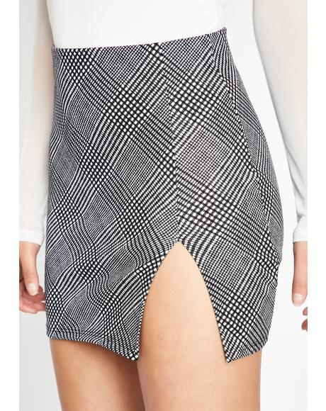 Posh To Death Checkered Skirt