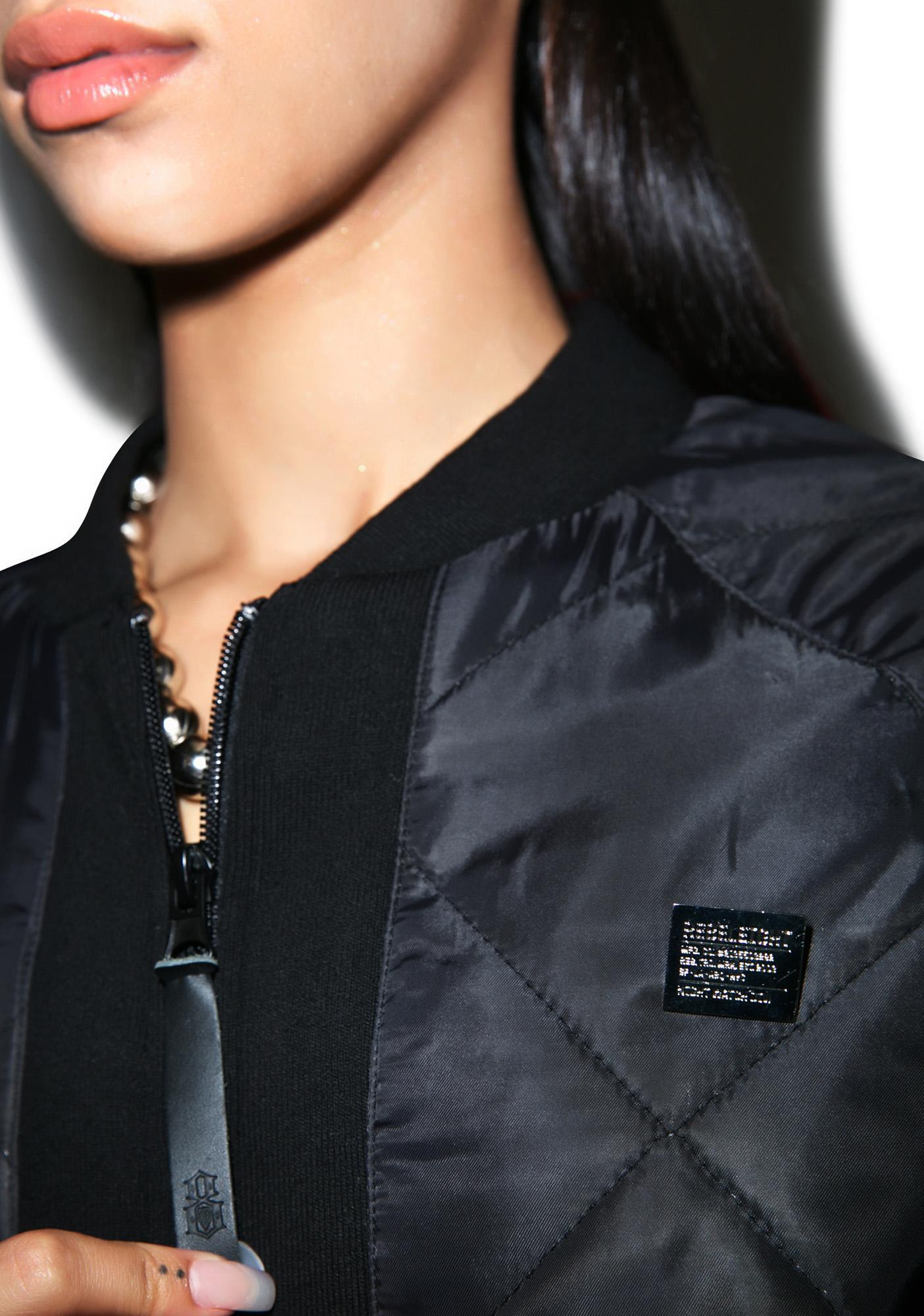 Rebel8 Quilted Logo Bomber Jacket