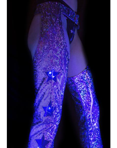 Holographic Star Girl Light-Up Chaps