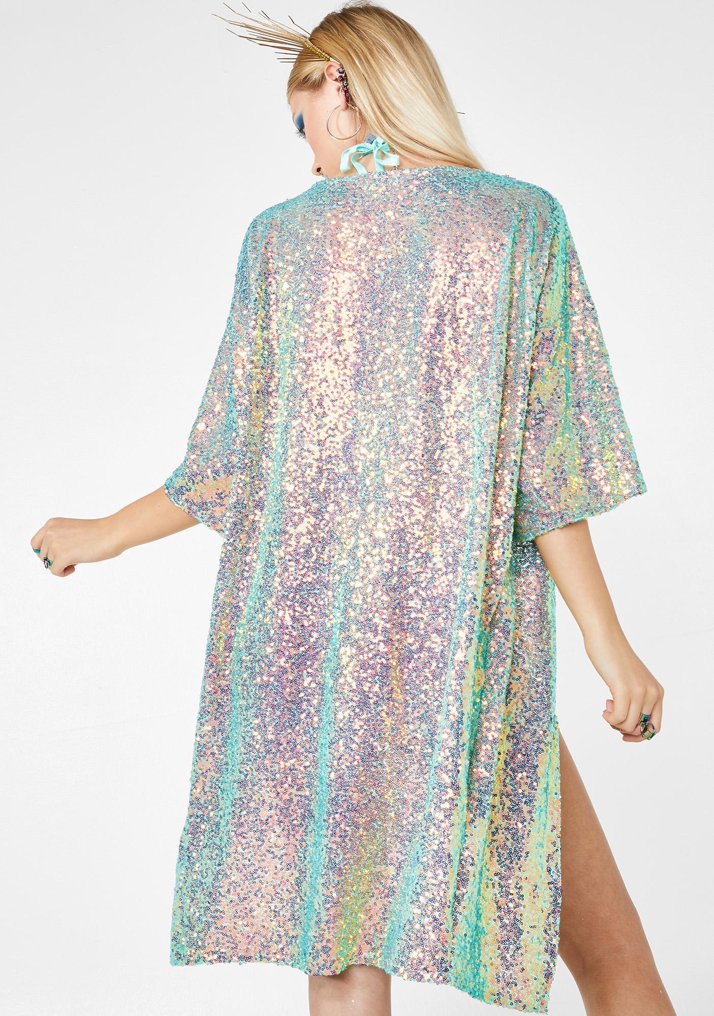 Seagypsy Couture Geode Sequin Kimono