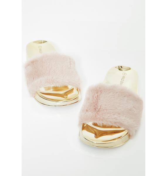 Miss Wannabe Rich Fur Slides