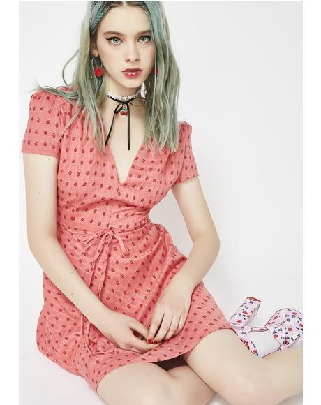 Spillin' Tea Fit N' Flare Dress