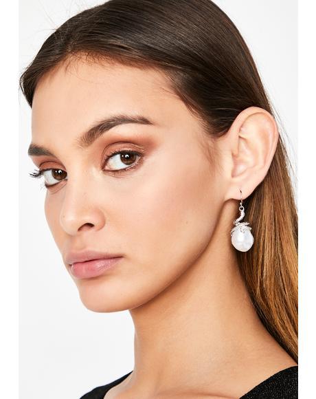 Toxic Treasure Pearl Earrings