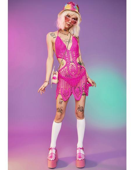 Sweet Park Playtime Crochet Mini Dress